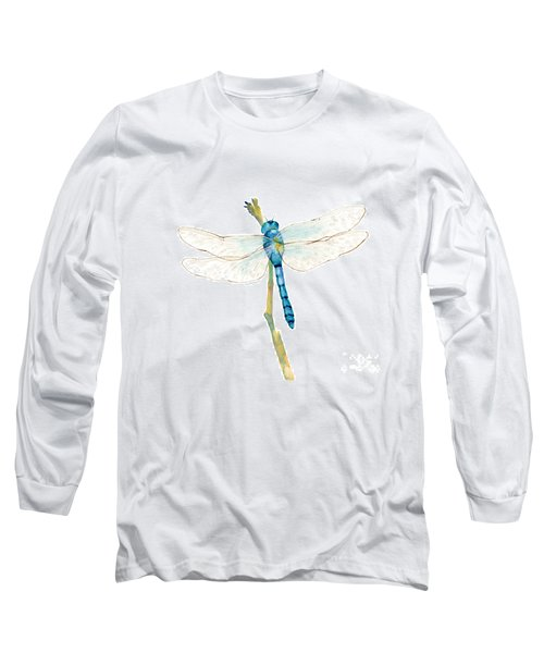 Blue Dragonfly Long Sleeve T-Shirt
