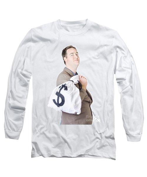 Business Man Getting Interest Free Loan Long Sleeve T-Shirt