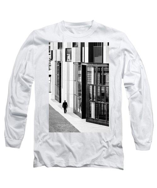 Business Man In Milan Long Sleeve T-Shirt by Alfio Finocchiaro
