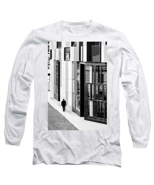 Business Man In Milan Long Sleeve T-Shirt