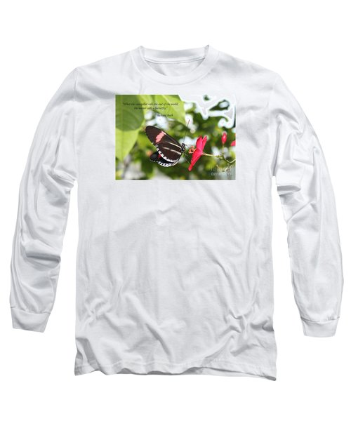 Caterpiller To A Butterfly Long Sleeve T-Shirt