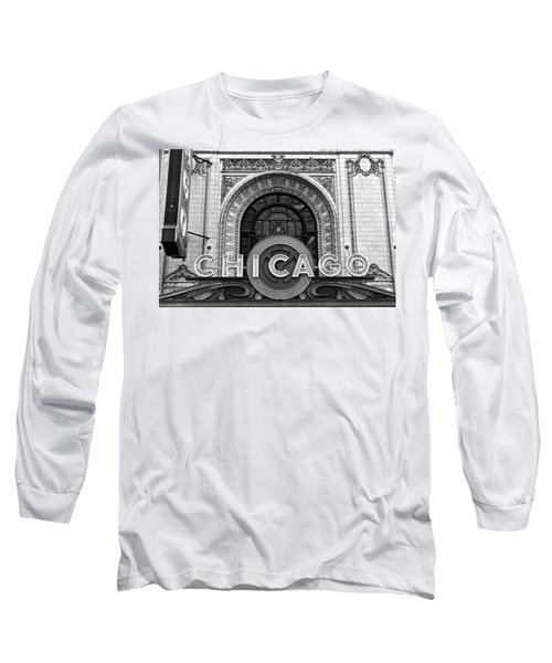 Chicago Theater Marquee Long Sleeve T-Shirt