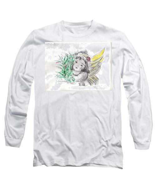 Christmas Angel Long Sleeve T-Shirt by Laurie L