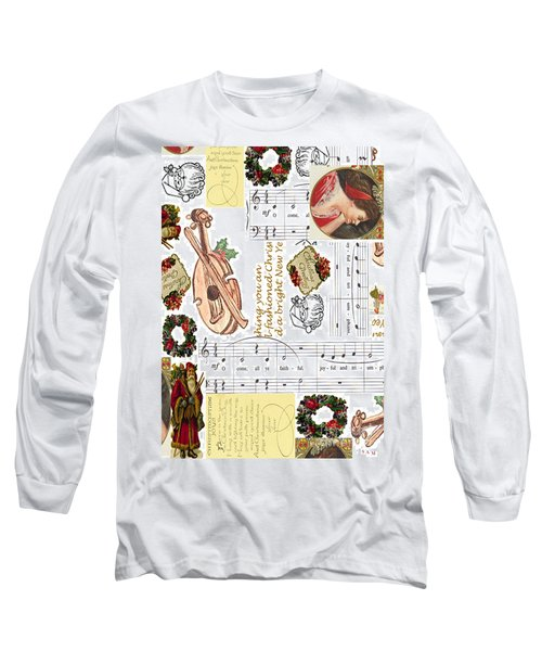 Long Sleeve T-Shirt featuring the digital art Christmas Collage by Sandy McIntire