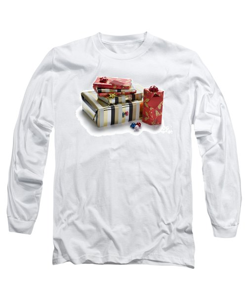 Long Sleeve T-Shirt featuring the photograph Christmas Gifts by Lee Avison