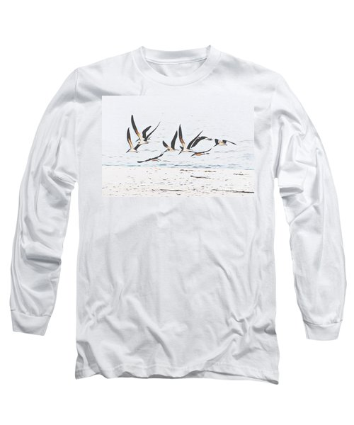 Coastal Skimmers Long Sleeve T-Shirt by Scott Cameron