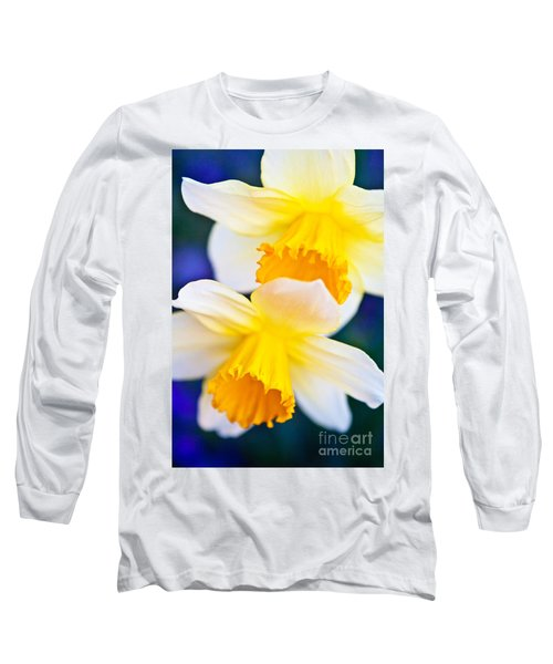 Long Sleeve T-Shirt featuring the photograph Daffodils by Roselynne Broussard