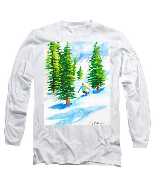 David Skiing The Trees  Long Sleeve T-Shirt