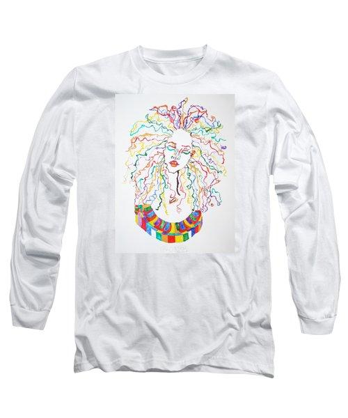 Dreadlocks Piano Goddess Long Sleeve T-Shirt