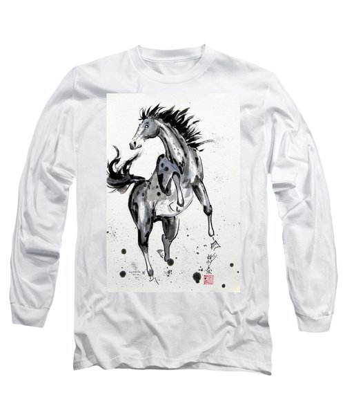 Long Sleeve T-Shirt featuring the painting Exuberance by Bill Searle