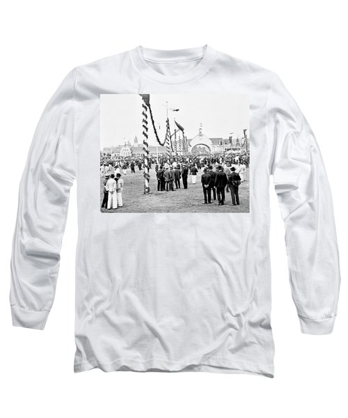 Long Sleeve T-Shirt featuring the photograph Festival Place Millerntor Hamburg Germany 1903 by A Gurmankin
