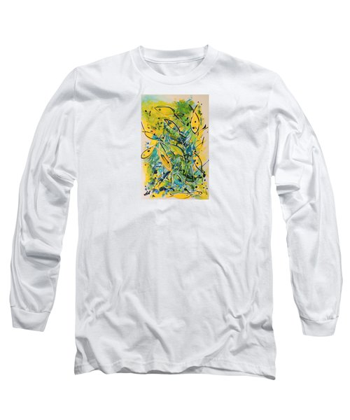 Long Sleeve T-Shirt featuring the painting Fish Frenzy by Lyn Olsen