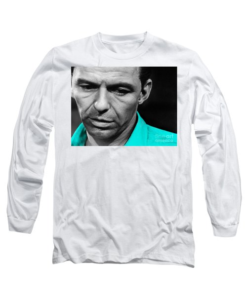 Long Sleeve T-Shirt featuring the mixed media Frank Sinatra Art by Marvin Blaine