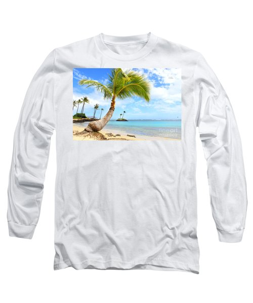 Hawaiian Paradise Long Sleeve T-Shirt by Kristine Merc