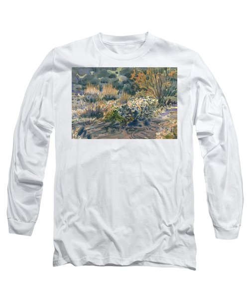 Long Sleeve T-Shirt featuring the painting High Desert Flora by Donald Maier