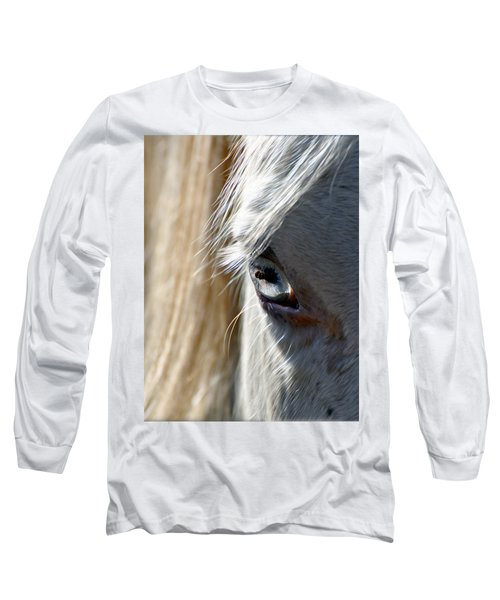 Horse Eye Long Sleeve T-Shirt by Savannah Gibbs