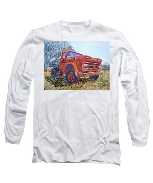 Long Sleeve T-Shirt featuring the painting Irene's Viking by Joel Deutsch
