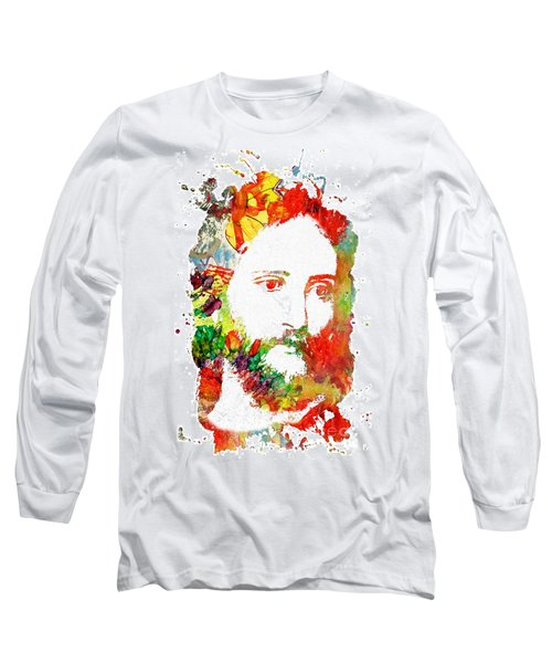 Jesus Christ - Watercolor Long Sleeve T-Shirt
