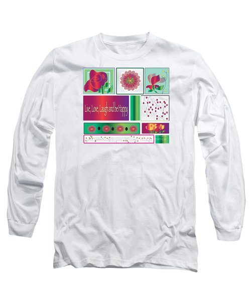 Long Sleeve T-Shirt featuring the drawing Laugh by Iris Gelbart