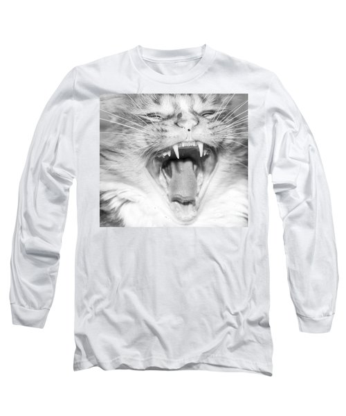 Laughing Cat Long Sleeve T-Shirt by Jeannette Hunt