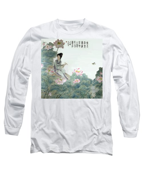 Long Sleeve T-Shirt featuring the photograph Lotus Pond by Yufeng Wang