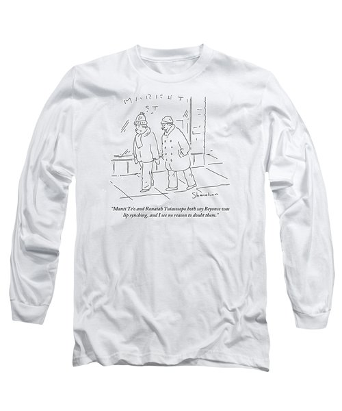 Manti Te'o And Ronaiah Tuiasosopo Both Say Long Sleeve T-Shirt
