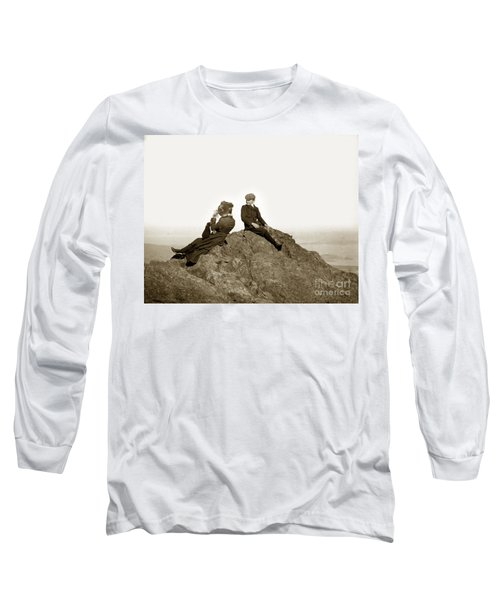 Long Sleeve T-Shirt featuring the photograph Mount Tamalpais Marin County  Circa 1902 by California Views Mr Pat Hathaway Archives
