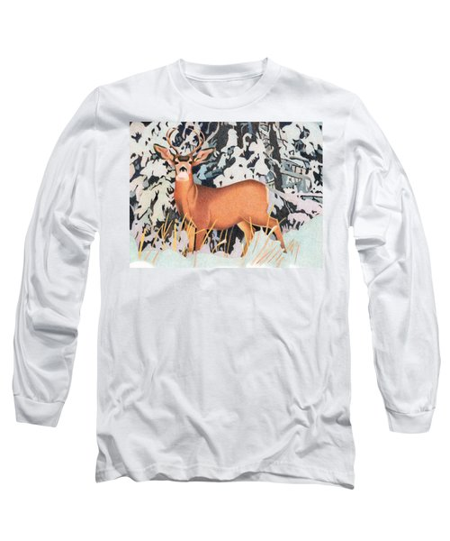 Mule Deer Long Sleeve T-Shirt by Dan Miller