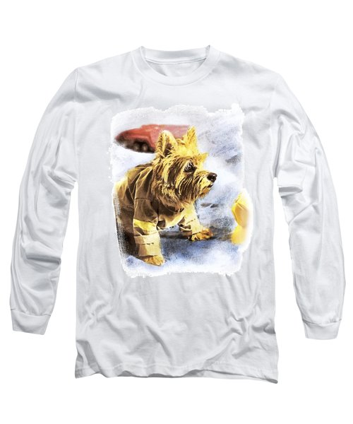 Norwich Terrier Fire Dog Long Sleeve T-Shirt by Susan Stone