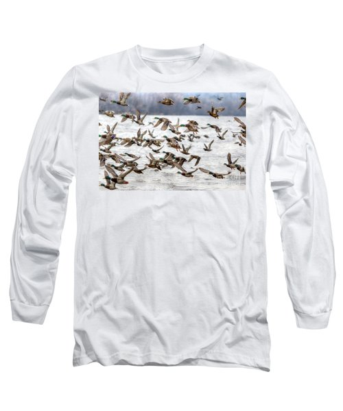 Long Sleeve T-Shirt featuring the photograph One Direction by Robert Pearson