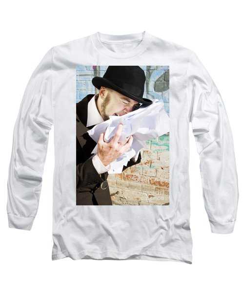 Paperwork Blues Long Sleeve T-Shirt