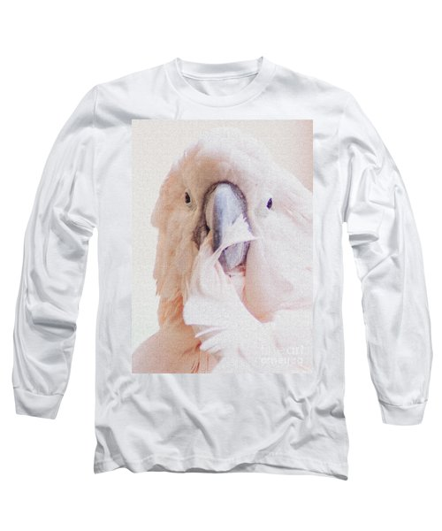 Long Sleeve T-Shirt featuring the photograph Parrot Flair by Roselynne Broussard