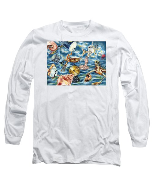 Long Sleeve T-Shirt featuring the painting Recipe Of Ocean by Hiroko Sakai