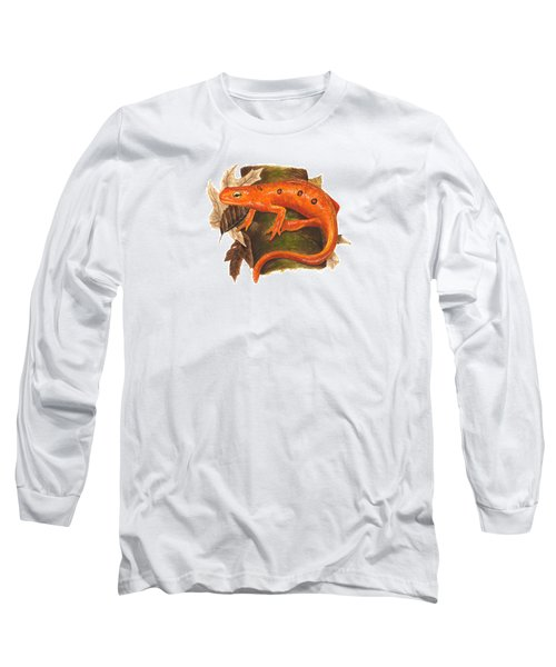 Red Eft Long Sleeve T-Shirt by Cindy Hitchcock