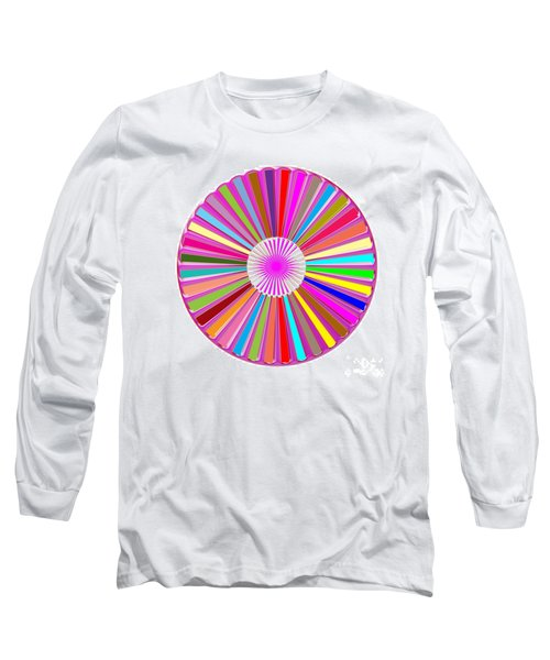 Colorful Signature Art Chakra Round Mandala By Navinjoshi At Fineartamerica.com Rare Fineart Images  Long Sleeve T-Shirt