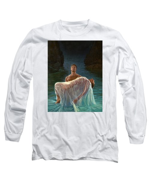 Long Sleeve T-Shirt featuring the painting Resurrection by Mia Tavonatti