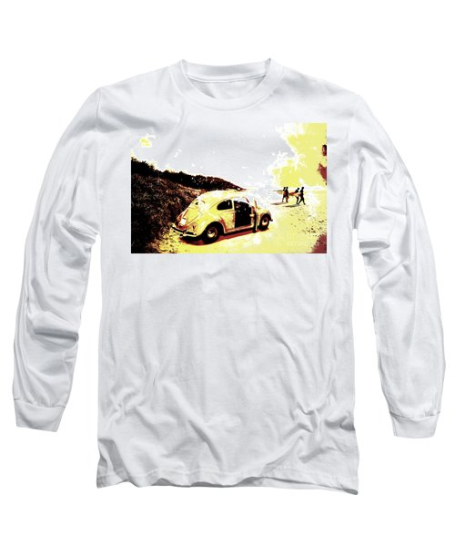 Retro Surfers Illustration Long Sleeve T-Shirt