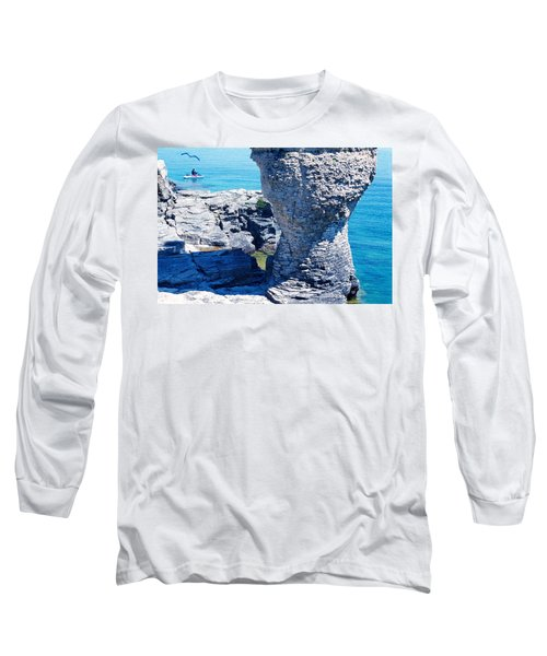 Rock Formations, Bruce Peninsula Long Sleeve T-Shirt