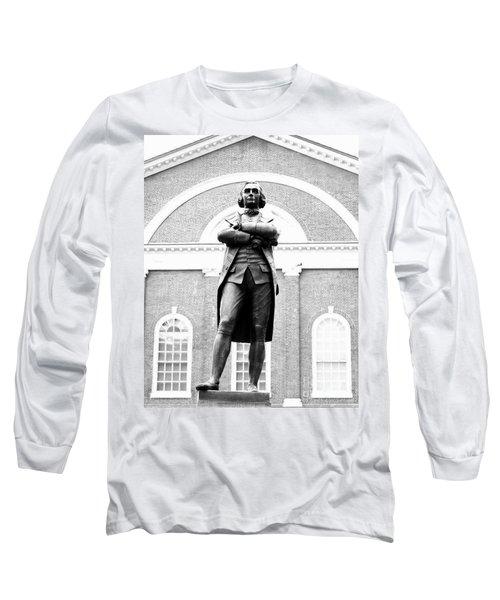 Samuel Adams Statue, State House Boston Ma Long Sleeve T-Shirt