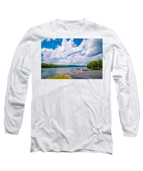 Long Sleeve T-Shirt featuring the photograph Scenery Around Lake Jocasse Gorge by Alex Grichenko