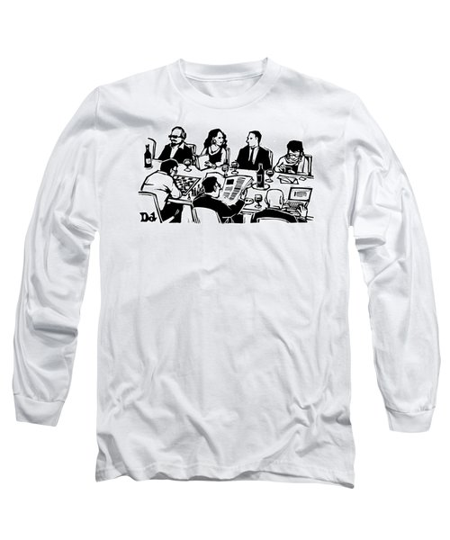 Seven People Are Seen Sitting At A Table Long Sleeve T-Shirt