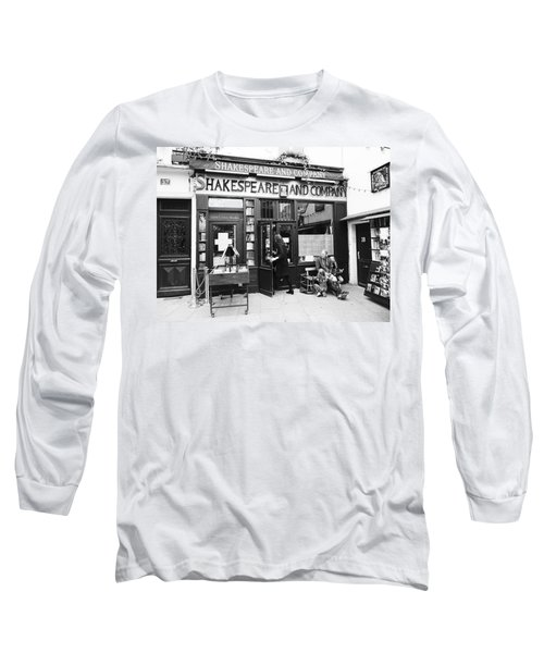 Shakespeare And Company Bookstore In Paris France Long Sleeve T-Shirt