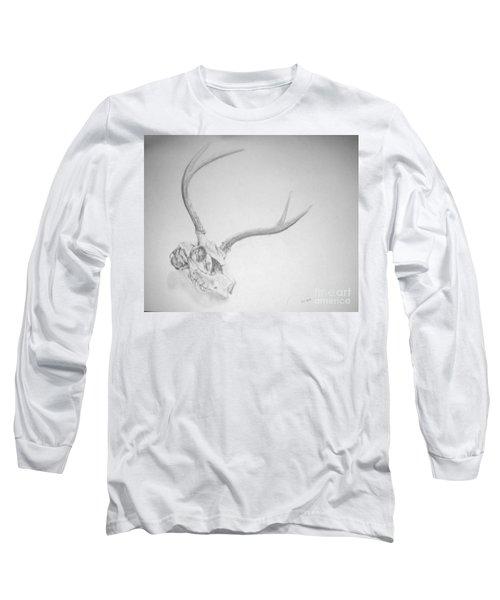 Skull Long Sleeve T-Shirt by Tamir Barkan