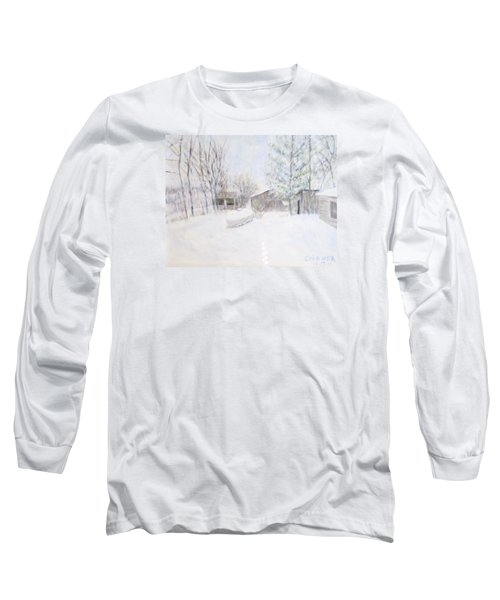 Snowy February Day Long Sleeve T-Shirt