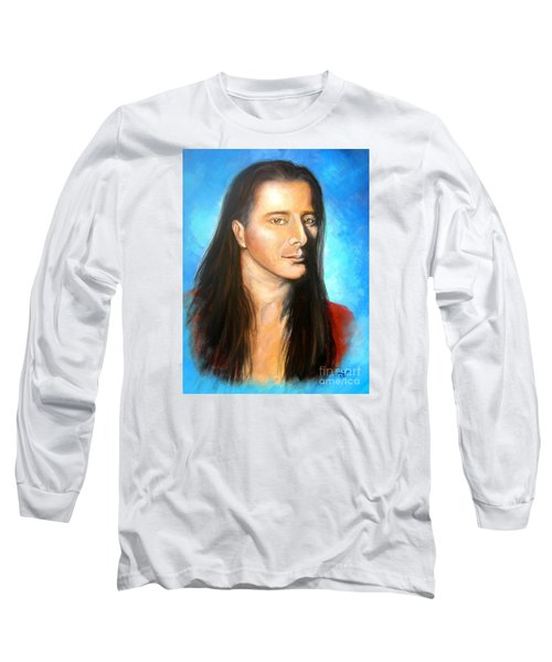 Steve Perry Long Sleeve T-Shirt by Patrice Torrillo