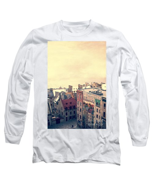 Streets Of Old Quebec City Long Sleeve T-Shirt