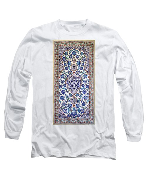 Sultan Selim II Tomb 16th Century Hand Painted Wall Tiles Long Sleeve T-Shirt by Ralph A  Ledergerber-Photography