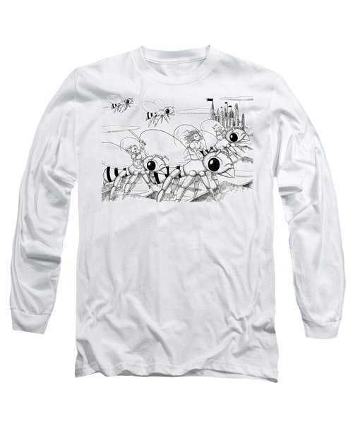 Long Sleeve T-Shirt featuring the drawing Tammy In Polynesia by Reynold Jay