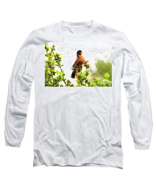 The Robin Sings Long Sleeve T-Shirt