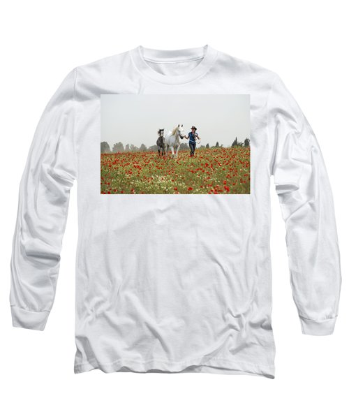 Three At The Poppies' Field... 3 Long Sleeve T-Shirt